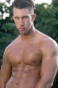 male muscle porn star: Matthew Brannon, on hotmusclefucker.com