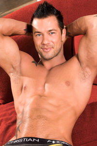 male muscle porn star: Rod Daily, on hotmusclefucker.com