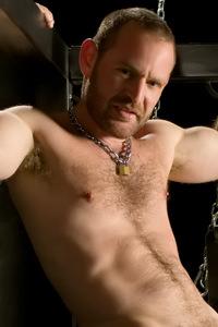 male muscle porn star: Aaron Hammer, on hotmusclefucker.com