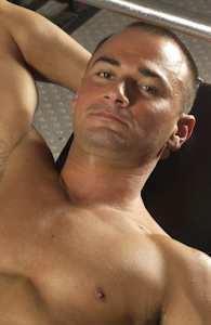 male muscle porn star: Harrick Sharp, on hotmusclefucker.com