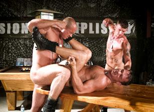 gay muscle porn clip: Grunts - Misconduct - Jake Deckard & Ricky Sinz & Trey Casteel, on hotmusclefucker.com