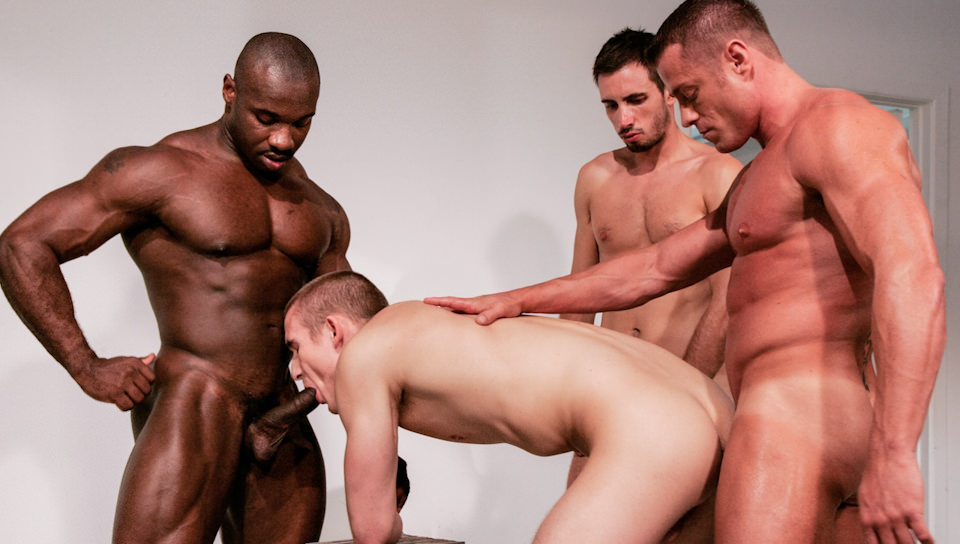TKO, Scene # 05 – Marc Williams, Tyler Saint, Ludovic Canot, Mason Wyler (ragingstallion)
