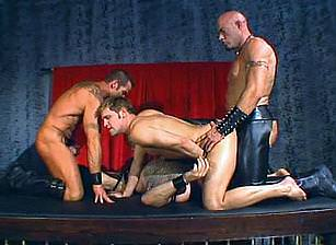 Leather Daddies Gang Banging Brad Benton, Scene #02