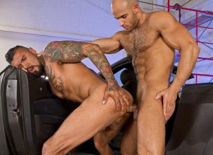gay muscle porn clip: Auto Erotic, Part 2 - Boomer Banks & Sean Zevran, on hotmusclefucker.com