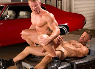 gay muscle porn clip: Auto Erotic, Part 1 - Johnny V & Landon Conrad, on hotmusclefucker.com