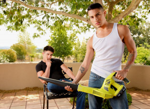 gay muscle porn clip: Lusty Landscaping - Derrick Dime & Texas Holcum, on hotmusclefucker.com
