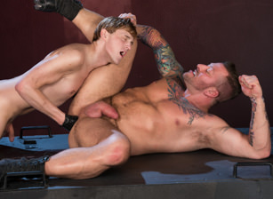 gay muscle porn clip: Full Fist Interrogation - Colin Bryant & Hugh Hunter, on hotmusclefucker.com