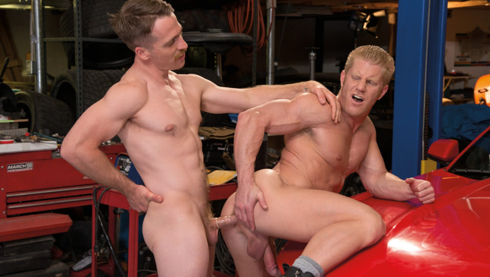 Nate Bends Johnny Over To Give His Ass A Rimming