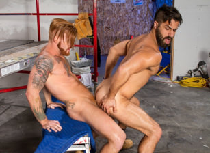 gay muscle porn clip: Erect This! - Adam Ramzi & Bennett Anthony, on hotmusclefucker.com