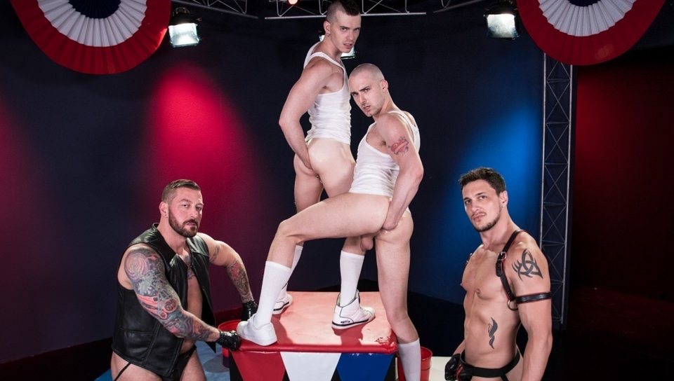 World Series of pugni, Scene # 05 – Hugh Hunter, Axel Abysse, Joey D, Sam Syron (clubinfernodungeon)