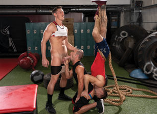 gay muscle porn clip:  XXX-Fit - Grant Ryan & Steven Lee & Woody Fox, on hotmusclefucker.com