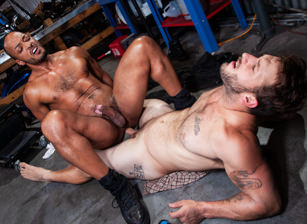 gay muscle porn clip: The Night Riders - Dillon Diaz & Nicholas Ryder, on hotmusclefucker.com
