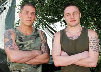 Gay military blowjob