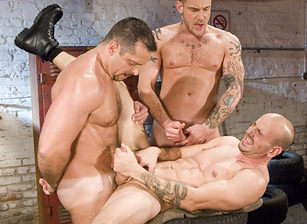 Vinnie D'Angelo & Nick Piston & Jay Armstrong in Full Throttle   hotmusclefucker.com