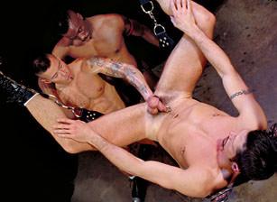 gay muscle porn clip: At Arm's Length 2 - Eddie Moreno & Rob Edwards & Simon Cox, on hotmusclefucker.com