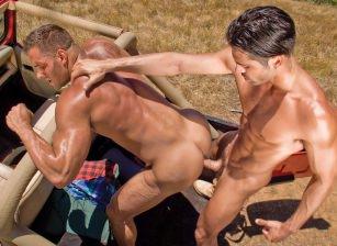 gay muscle porn clip: Roughin' It 2 - D.O. & Erik Rhodes, on hotmusclefucker.com