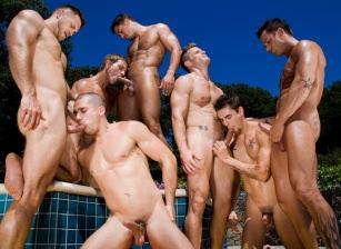 gay muscle porn clip: The Guys Next Door, Part 1 - Anthony Romero  & Cody Cummings & Johnny Torque & Landon Conrad & Marcus Mojo & Paul Wagner & Rod Daily, on hotmusclefucker.com