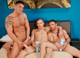 gay muscle porn clip: Pleasure Party - Cody Cummings & Joe Parker & Ty Roderick, on hotmusclefucker.com